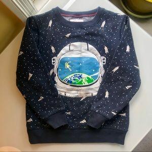 Mini Boden Glow in The Dark Astronaut Sweatshirt